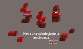 Hacia una psicologia de la convivencia.