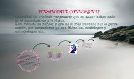 PENSAMIENTO CONVERGENTE