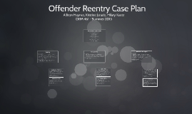 Offender Reentry Case Plan