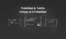 Probabilidad de  Eventos