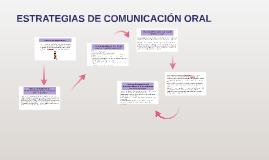 ESTRATEGIAS DE COMUNICACIÓN ORAL