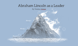 Abraham Lincoln as a Leader