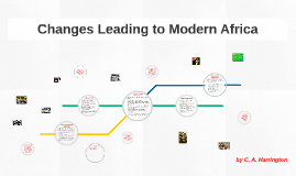 Changes Leading to Modern Africa
