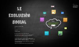 Le exclusión social