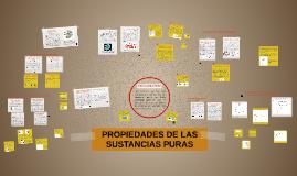 PROPIEDADES DE LAS SUSTANCIAS PURAS
