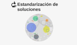 Estandarización de soluciones