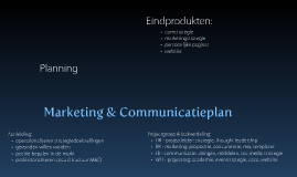 Marketing & communicatieplan