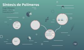 Síntesis de Polimeros