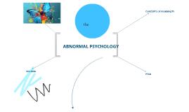 ABNORMAL PSYCHOLOGY STUDIES