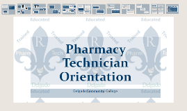 Pharmacy Technician Orientation