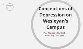 Conceptions of Depression on Wesleyans Campus