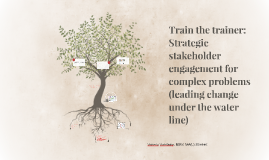 Train the Trainer - Strategic Stakeholder Engagement: From roots to results