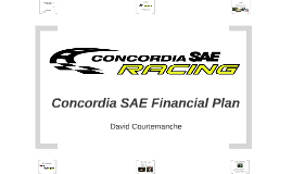 Concordia SAE Financial Plan
