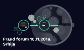 Fraud forum 18.11.2016. Srbija