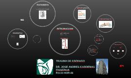 TRAUMA DE ESOFAGO