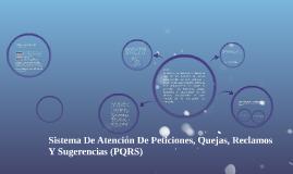 SISTEMA DE ATENCIÓN AL CLIENTE PQRS