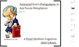 Kant's Prolegomena