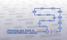 Copy of PRINCIPIOS QUE RIGEN EL DERECHO PROCESAL LABORAL: