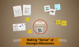 "Copy of Making ""Sense"" of Georgia Milestones"