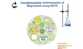 Copy of Complexometric Determination of Magnesium using EDTA