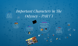 Important Characters in The Odyssey - PART I