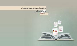 Comunicación en lengua alemana 1