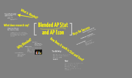 Blended AP Stat and AP Econ