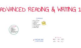 ADVANCED READING & WRITING