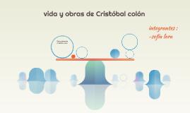 Vida y obras de Cristóbal colón