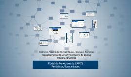 Portal CAPES - IFPE/Barreiros