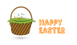 Copy of Happy Easter - Frohe Ostern! #template #free