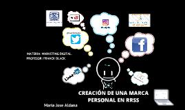 CREACIÓN DE MARCA EN LAS REDES SOCIALES