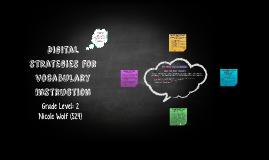 EDRD 460: Vocab Digital Strategies