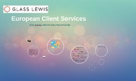 European Client Services