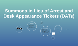 Court Summons in Lieu of Arrest