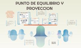 PUNTO DE EQUILIBRIO Y PROYECCION
