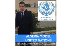 ALGERIA MODEL UNITED NATIONS 2015
