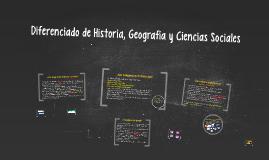 Diferenciado de Historia, Geografía y Ciencias Sociales