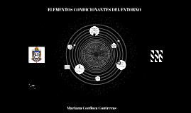 ELEMENTOS CONDICIONANTES DEL ENTORNO
