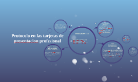 Protocolo en las tarjetas de presentacion profesional