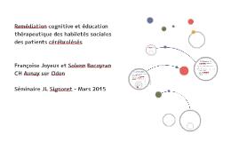 Copy of Remédiation cognitive et éducation thérapeutique des habilet
