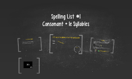 Spelling List #1