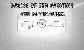 BASICS OF ZEN PAINTING AND MINIMALISM