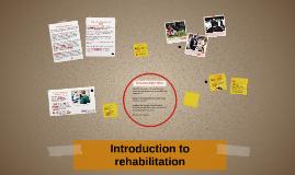 Introduction to rehabilitation