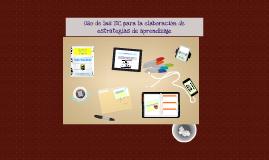 Copy of Uso de las TIC para la elaboración de estrategias de aprendi