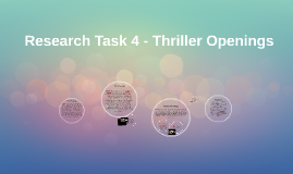Research Task 4 - Thriller Openings