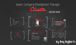 Presentation Cloetta Junior Category Development Manager