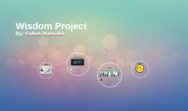 Wisdom Project - Colton Marschik