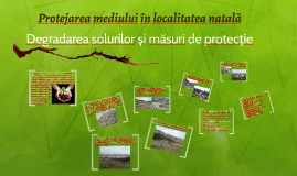 Protejarea mediului în localitatea natală