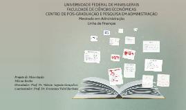 UNIVERSIDADE FEDERAL DE MINAS GERAIS FACULDADE DE CIÊNCIAS e
